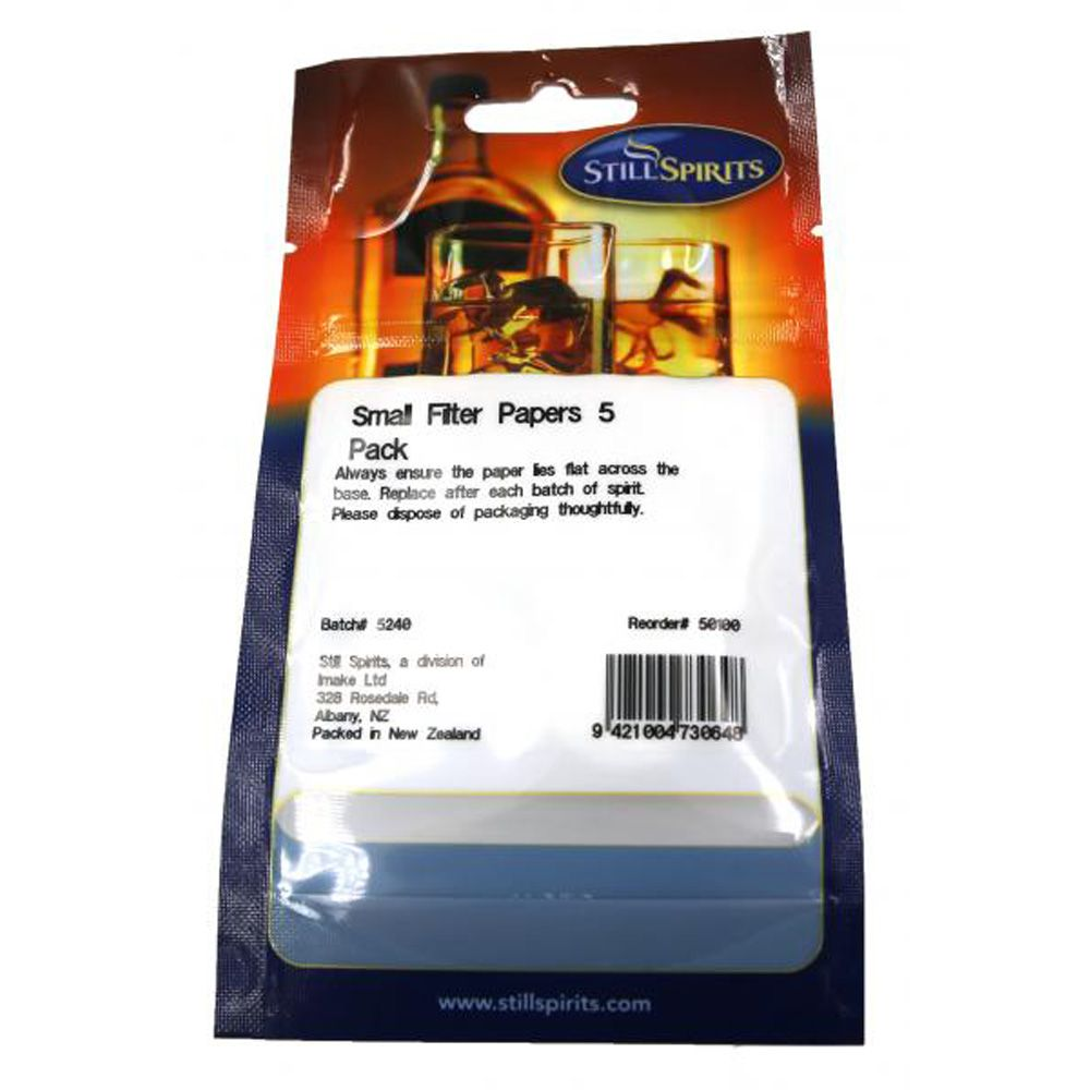 Small Filter Paper 5 pack