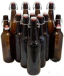 Amber Flip Top Bottle - 750ml (ctn 12